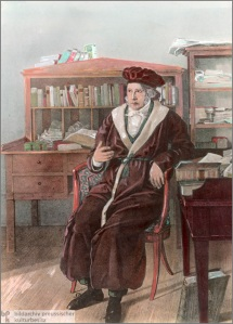 Hegel, here wearing what should be the philosopher's uniform.